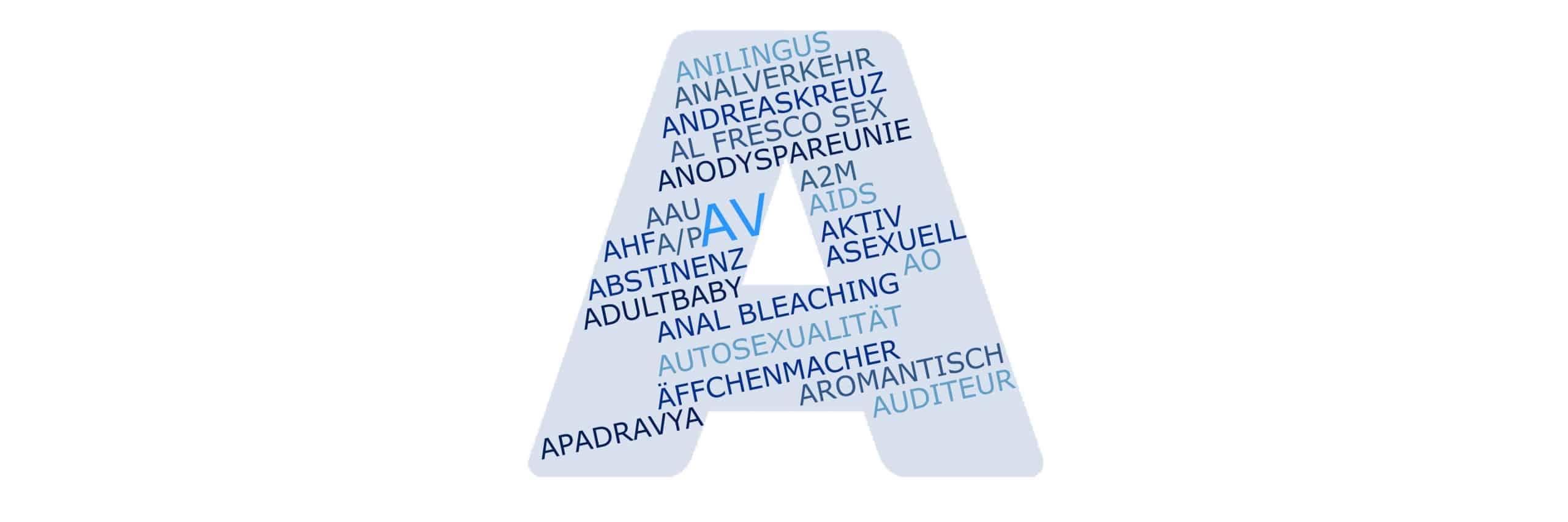 AV bezeichnet den Analsex bei Homo- und Heterosexuellen Paaren