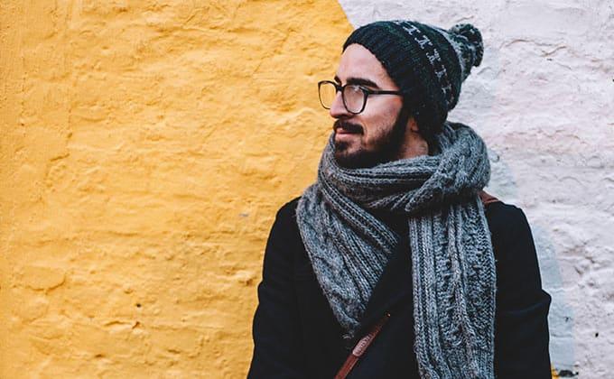 Accessoire Idee Nr. 3 Ein breiter Schal